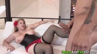 Hot Blonde Do A Tit Fuck And Anal S. ..